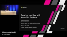 Securing your data with Azure SQL DB