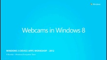 Windows Store Device Apps for Webcams Window 8