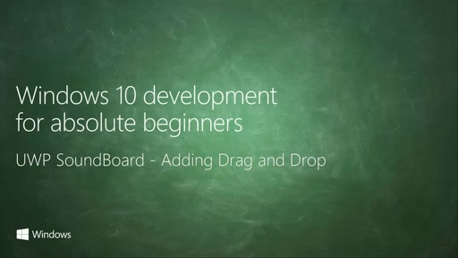 UWP-053 - UWP SoundBoard - Adding Drag and Drop