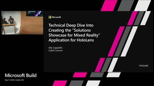 """Technical deep dive into creating the """"Solutions Showcase for Mixed Reality"""" app for HoloLens"""