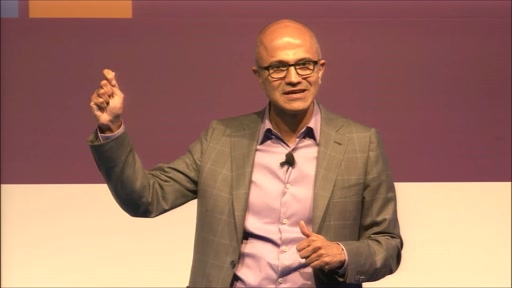 Palestra do CEO da Microsoft, Satya Nadella, em evento de Cloud