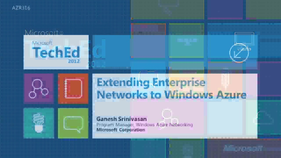 "Deep Dive: Extending Enterprise Networks to Windows Azure - Project ""Brooklyn"""