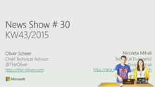 News Show #30: ASP.NET 5 Beta 8, Application Insights für UWP, Windows 10 SDK Preview, Visual Studio 2015 Update 1 CTP, Windows 10 IoT Core Update, Ignite 2016, MVPs, DevOps Hackathon, DPK Rückblick, Geekettes, MVA Adaptive Layout, Unity und Co