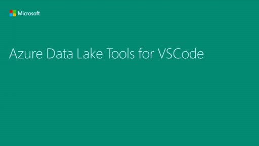 Azure Data Lake Tools for VSCode
