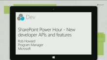SharePoint Power Hour - New developer APIs and features for Apps for SharePoint