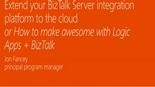 Extend your BizTalk Server integration platform to the cloud