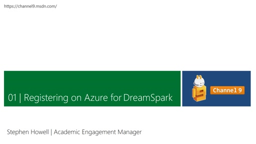 Section 1: Registering on Azure for DreamSpark