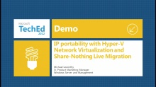 Windows Server 2012 IP Portability demo