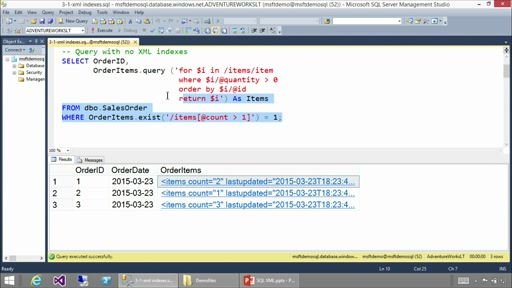 Using XML in SQL Server and Azure SQL Database: (03) Implementing XML Indexes
