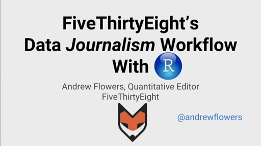 FiveThirtyEight's data journalism workflow with R