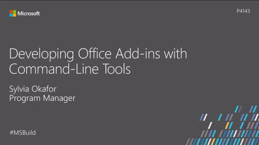 Developing Office add-ins with command-line tools
