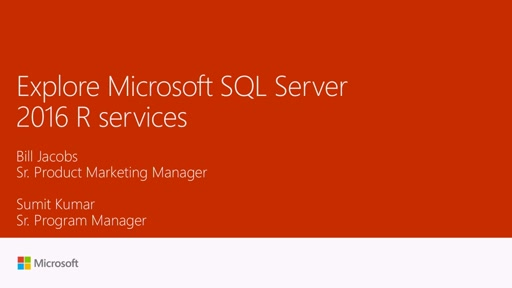 Explore Microsoft SQL Server 2016 R services