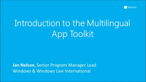 Introduction to the Multilingual App Toolkit