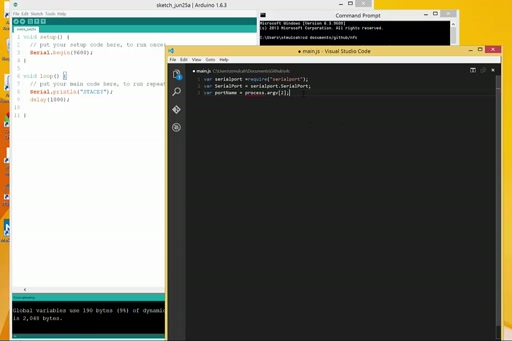 Arduino talks back to Node.js - Drama on the Serial Port