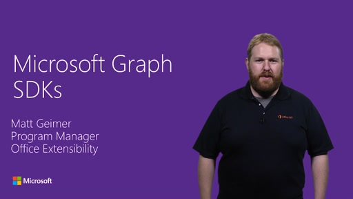 SDKs and Tooling for Microsoft Graph