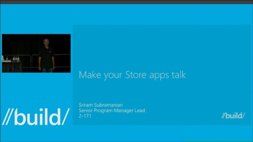 Make Your Windows Store Apps Talk
