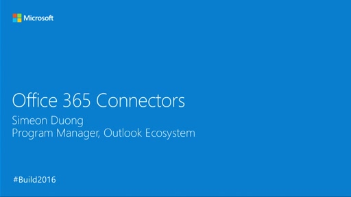 Building Office 365 Group Connectors