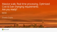 Internet of Things: Massive scale, Real-time processing, Optimized Cost & Ever changing requirements. Are you ready?