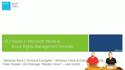 03 | Neues in Microsoft Intune und Azure Rights Management Services