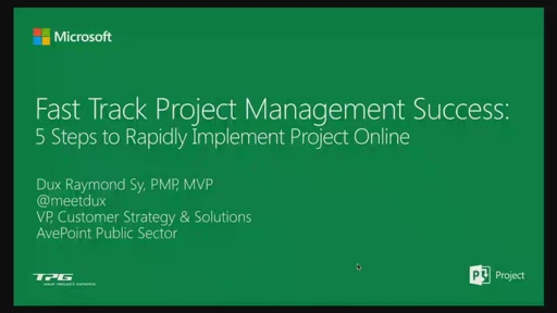 Fast Track Project Management Success: 5 Steps to Rapidly Implement Project Online