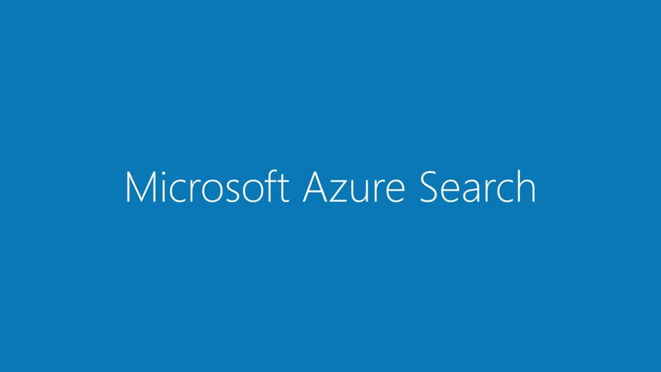 What is Azure Search?