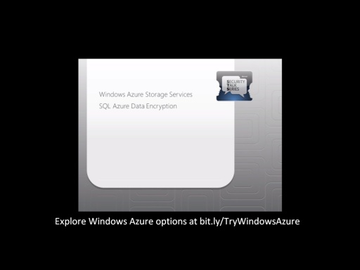 Windows Azure Platform Security Essentials: Module 3 – Storage Access