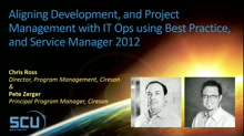 Aligning Development, and Project Management with IT Ops Using Best Practice, and Service Manager 2012