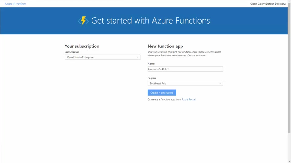 Create your first Azure Function