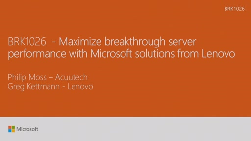 Maximize breakthrough server performance with Microsoft solutions from Lenovo