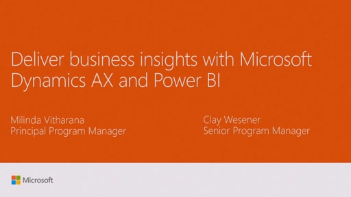 Deliver business insights with Microsoft Dynamics AX and Power BI