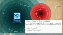 What's New in Spreadsheet Management for Office and SharePoint