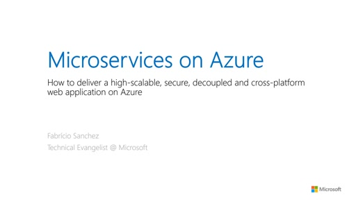 Microservices on Azure: how we can do this?
