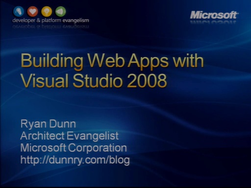 VS2008 Training Kit: Building Web Applications with Visual Studio 2008