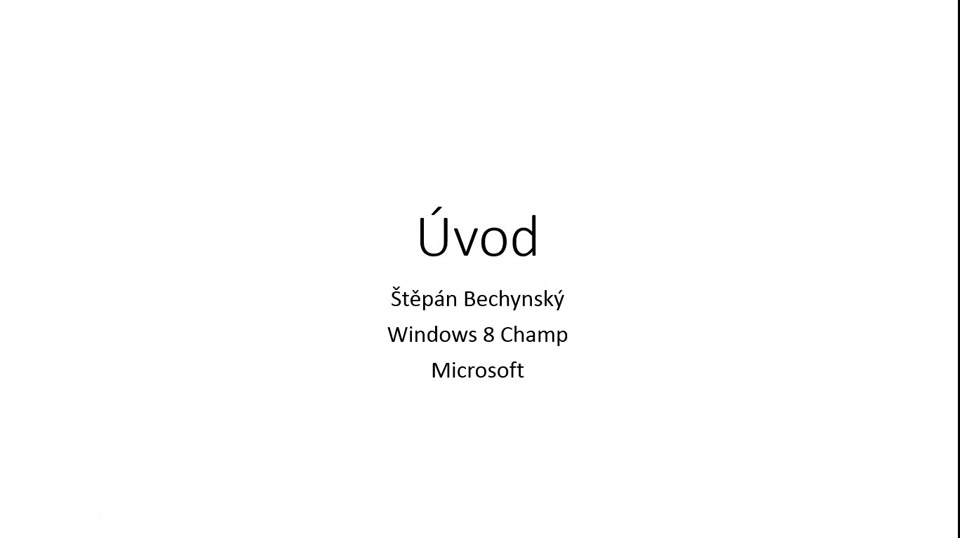 Windows 8 HOL - Úvod