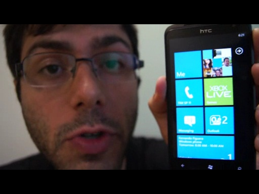 Três minutos do novíssimo Windows Phone 7