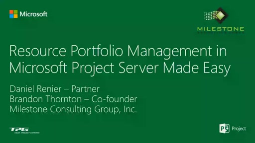 Resource Portfolio Management in Microsoft Project Server Made Easy