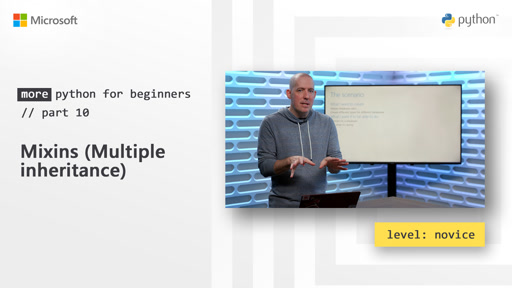 Mixins (Multiple inheritance) | More Python for Beginners [10 of 20]