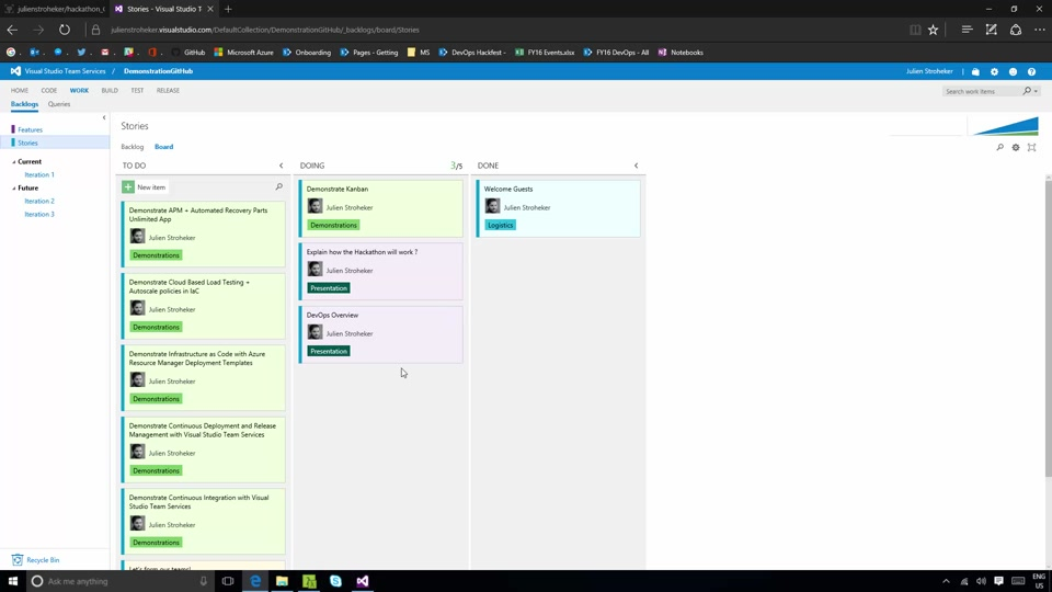 Automate tasks on VSTS with API - DevOps Hackathon Get Started Project