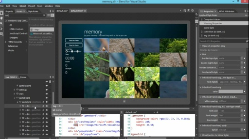 How Do I: (Part 4) Using Blend to Design HTML5 Windows 8 Apps: Styling the Game Board