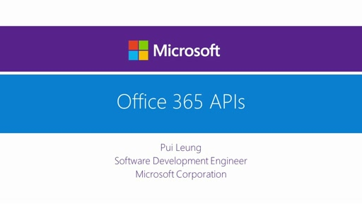 Office 365 APIs