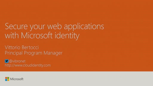 Secure your web applications with Microsoft identity