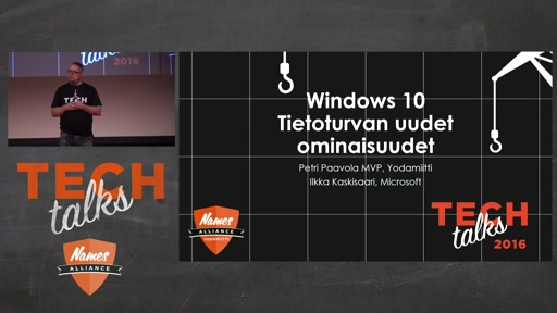 Tech Talks 2016 Citrix Stage Windows 10 - tietoturvan uudet ominaisuudet