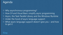 Asychronous Programming in Visual Studio 2012