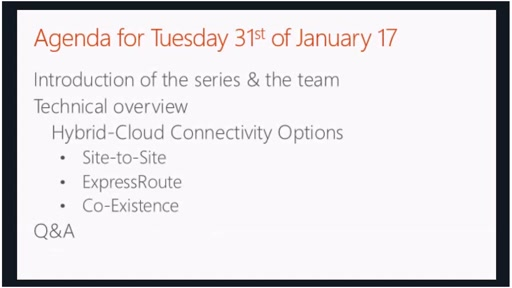 January - Hybrid-Cloud Connectivity Options