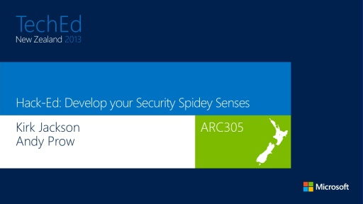 Hack-Ed: Develop your Security Spidey-Sense