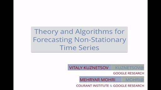 Theory and Algorithms for Forecasting Non-Stationary Time Series