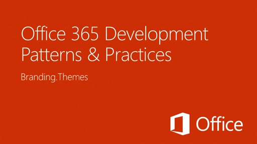Setting a SharePoint Theme in an App for SharePoint - Office 365 Developer Patterns and Practices