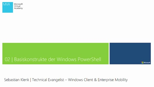 02| Basiskonstrukte der Windows PowerShell