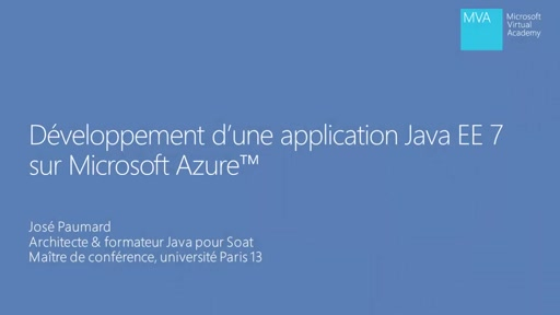 Application Java EE 7 dans Microsoft Azure 03 - Module EJB