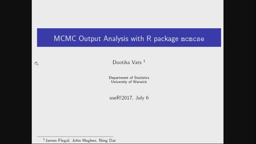 MCMC Output Analysis Using R package mcmcse